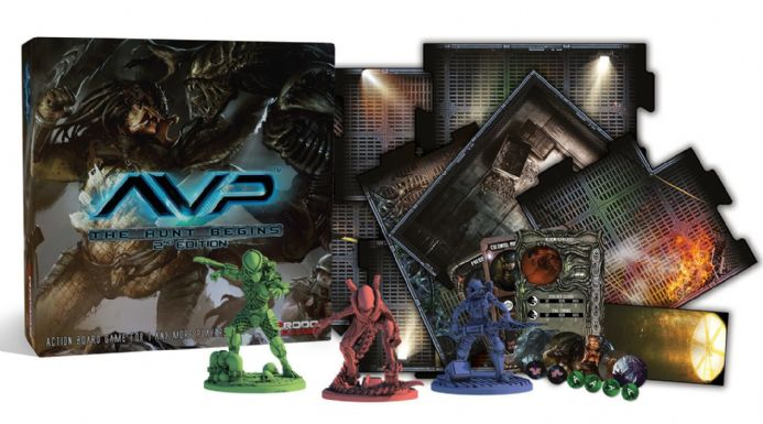 AvP: The Hunt Begins Board Game - Second Edition | Buy now at The G33Kery - UK Stock - Fast Delivery